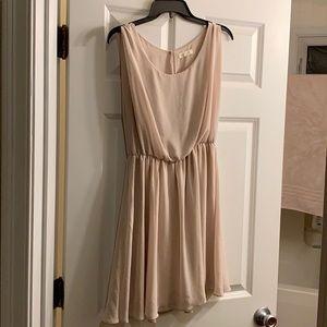 Lush chiffon capsleeve/tank dress
